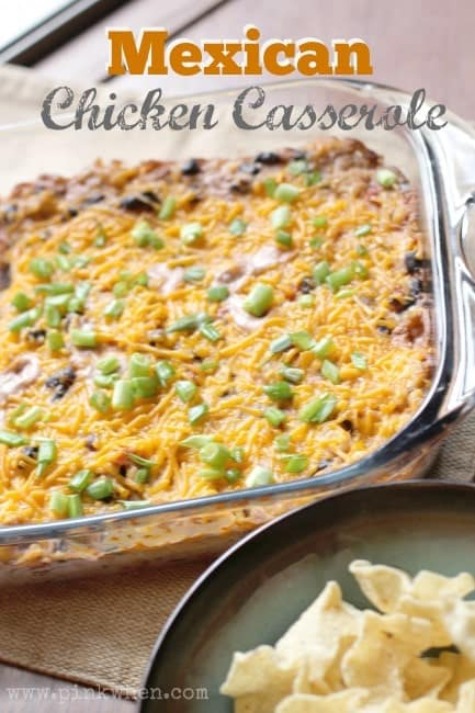 Mexican Chicken Casserole from Pink When on iheartnaptime.com