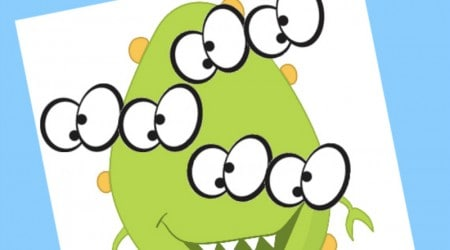 Pin the Eyes on the Monster Free Printable {Hello Summer}
