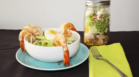 Shrimp and Bacon Salad in a Jar {Hello Summer}
