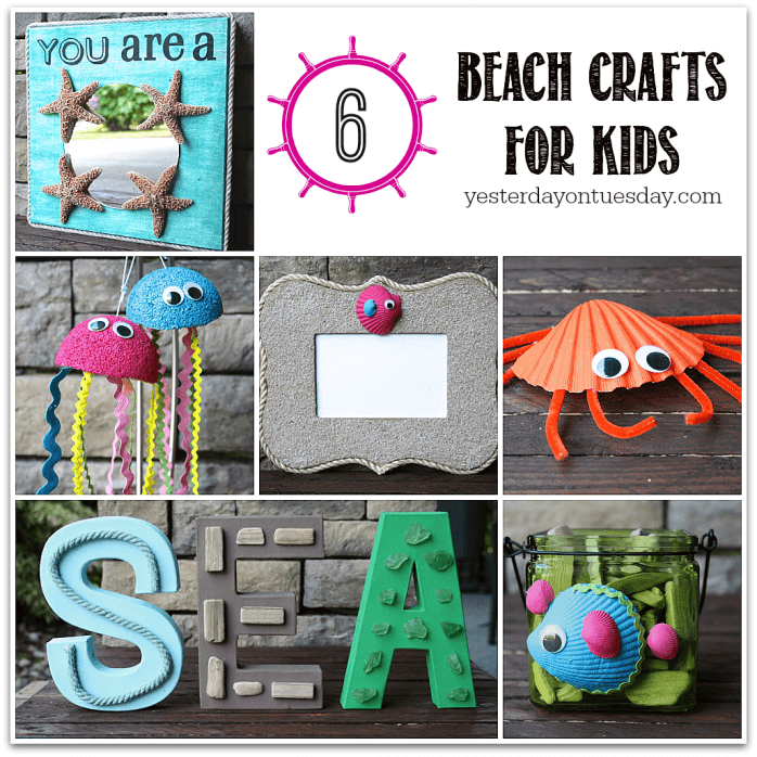 Six-Beach-Crafts-for-Kids-698x698