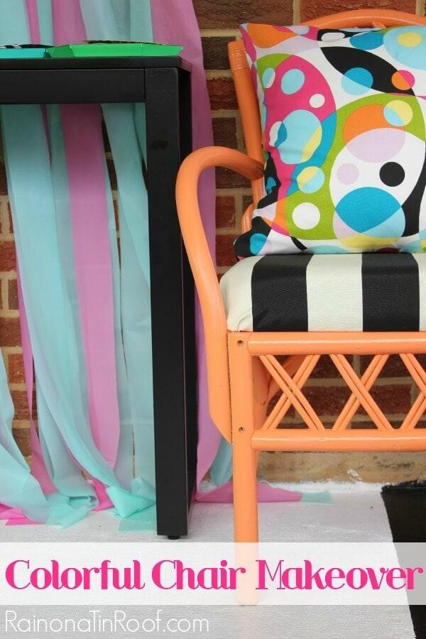 black-white-orange-chair-makeover-2
