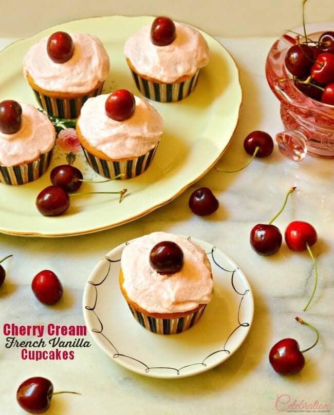 cherry cream cheese cupcakes