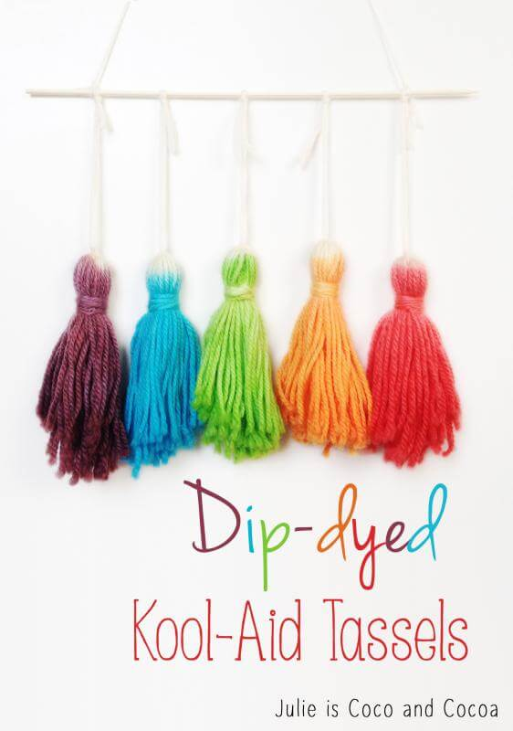 dip dyed koolaid tassels