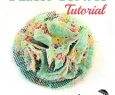 fluffy fabric flower 5