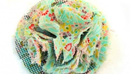 Fluffy Fabric Flower {Hello Summer}