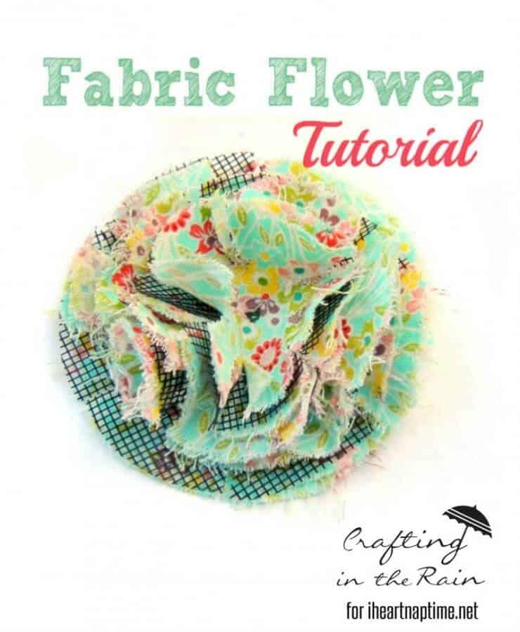 fluffy fabric flower 5