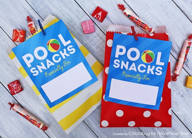 Pool snacks tag by Chickabug on iheartnaptime.com