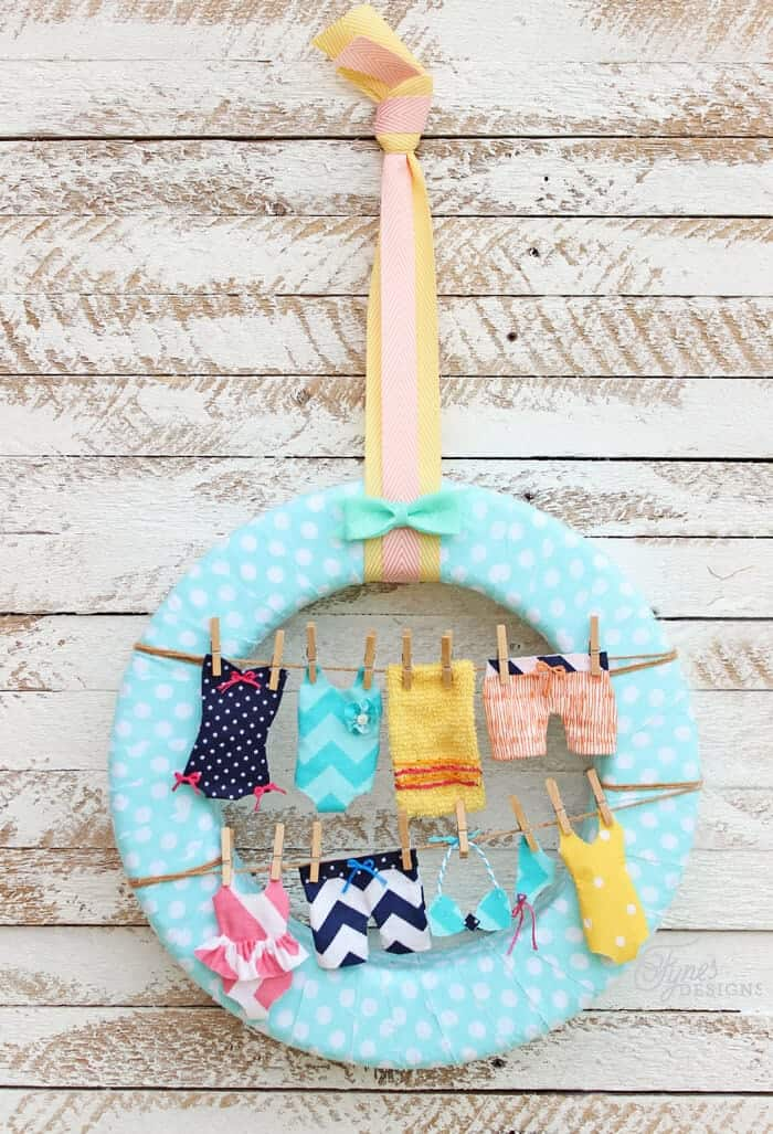 summer swimsuit wreath