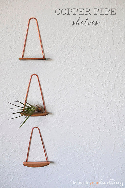 1 copper pipe shelves