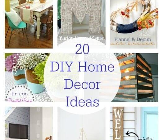 20 DIY Home Decor Ideas