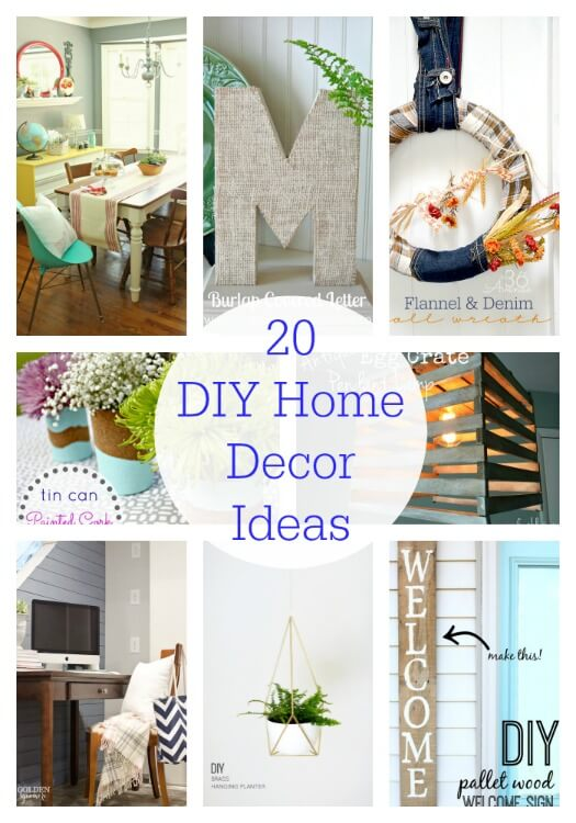 20 diy home decor ideas link party features i heart for Home design ideas handmade