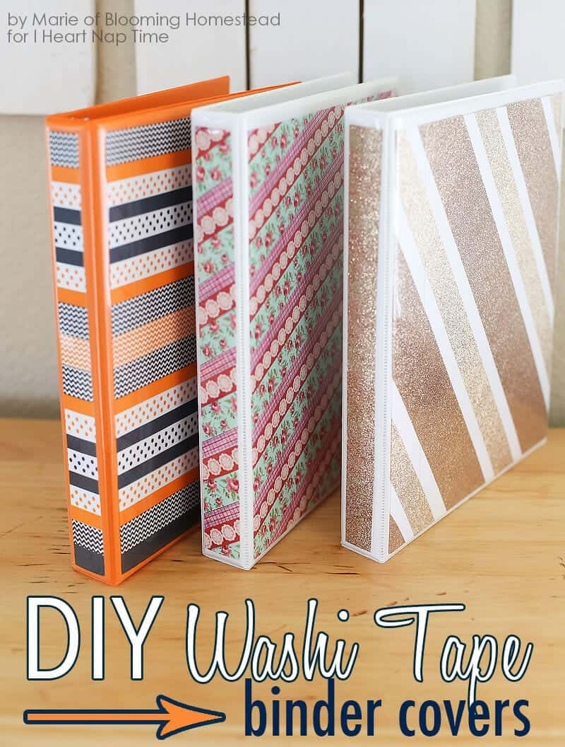 diy binder covers by blooming homestead on iheartnaptimecom