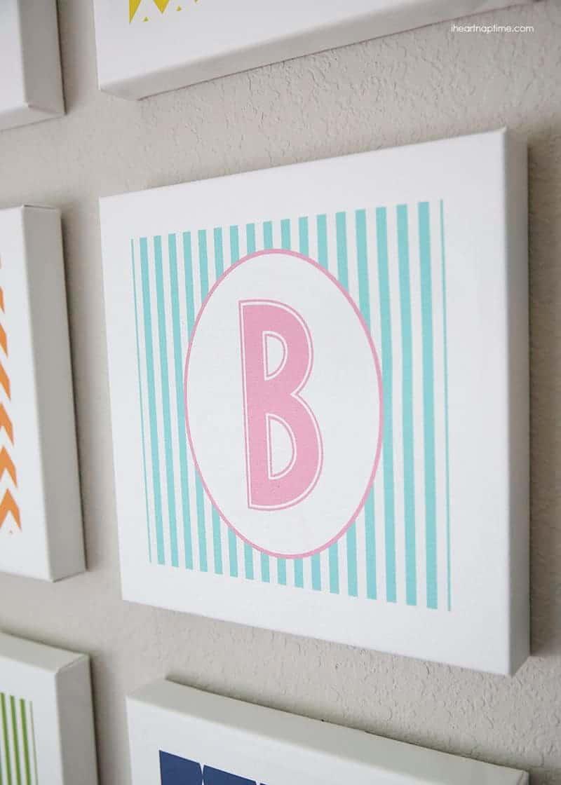 ABC wall art free printable