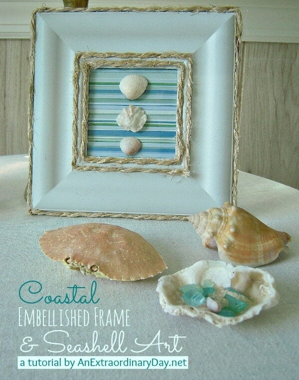 Coastal-Embellished-Frame-Seashell-Art-AnExtraordinaryDay.net_
