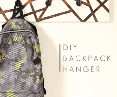 Learn how to create this gorgeous two-tone backpack hanger! Perfect for back to school!