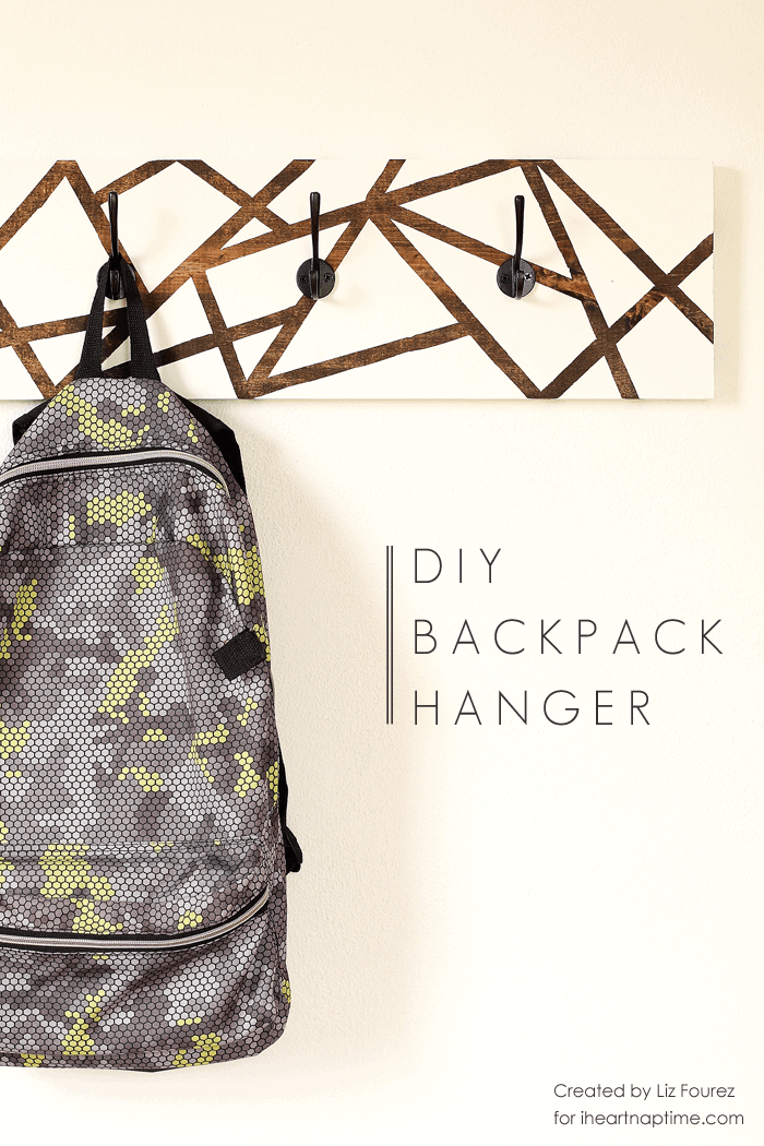 DIY Backpack Hanger on iheartnaptime.com