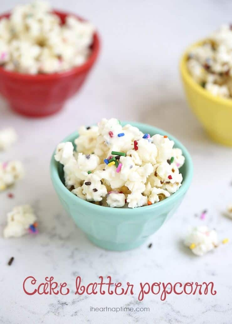 Easy cake batter popcorn recipe