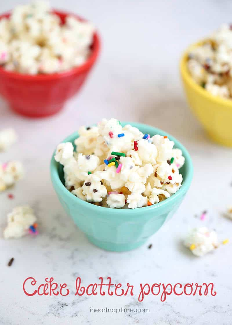 Cake batter popcorn I Heart Nap Time