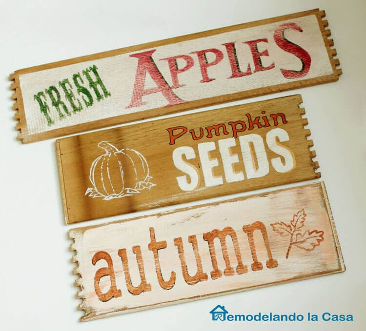 Fall Signs - Fresh Apples - Autumn - Pumpkin Seeds-2