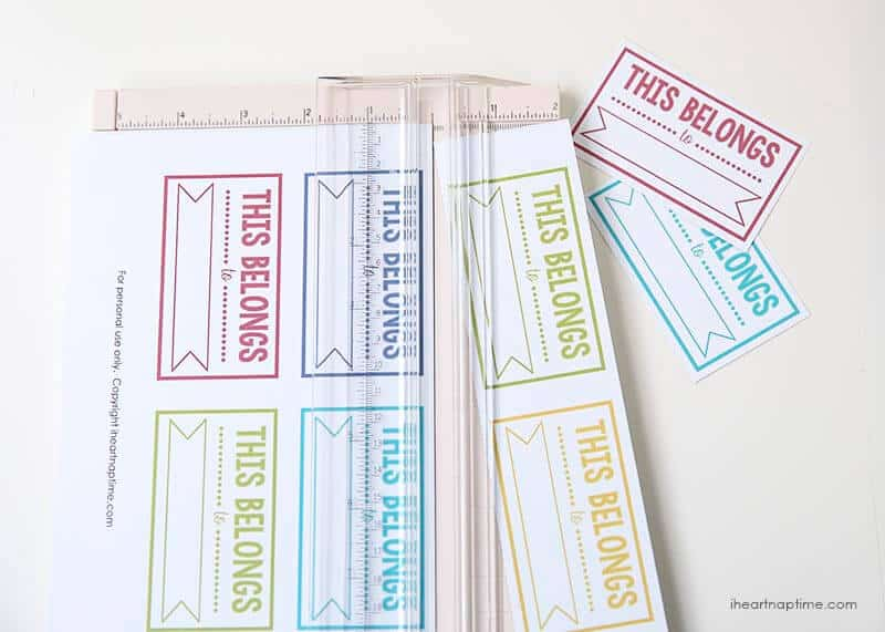 Free printable back to school labels