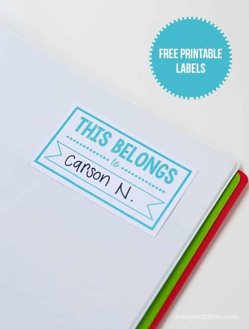 Free printable name labels