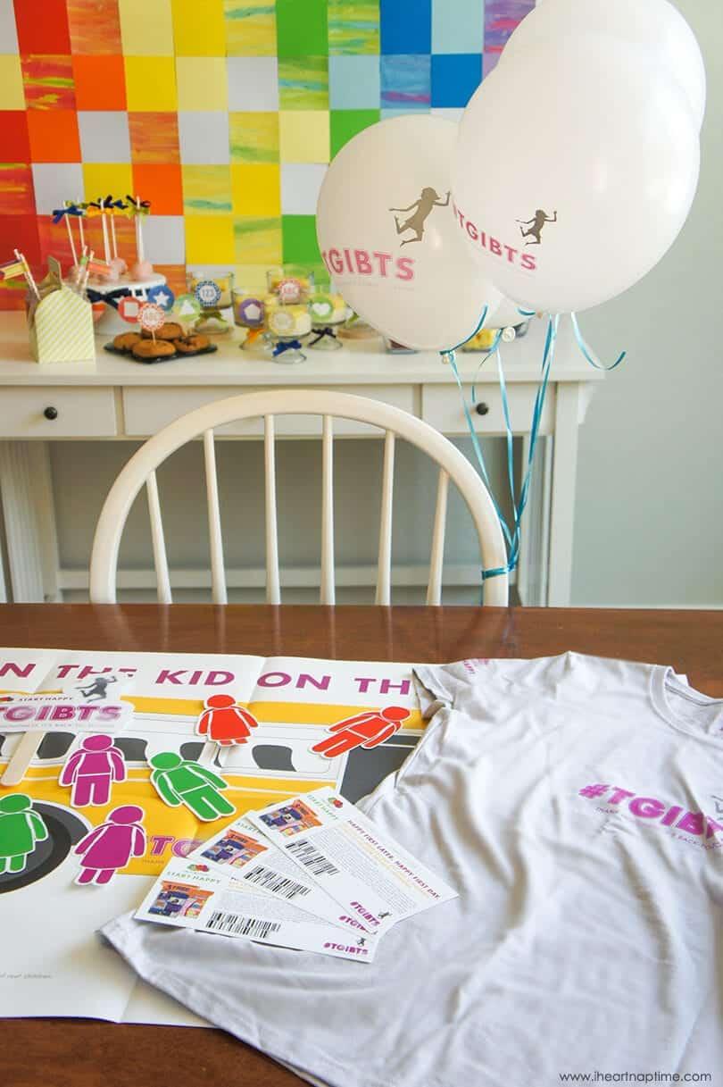 Back to School Watercolor Dessert Table on www.iheartnaptime.com #TGIBTS #FruitoftheLoom #desserttable