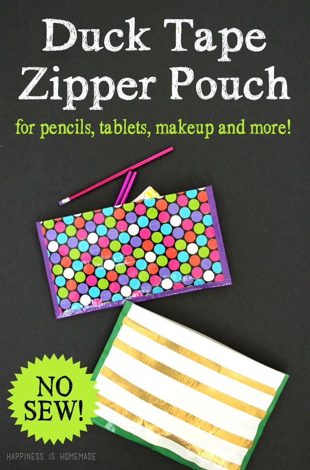 No-Sew-Duck-Tape-Zipper-Pouch