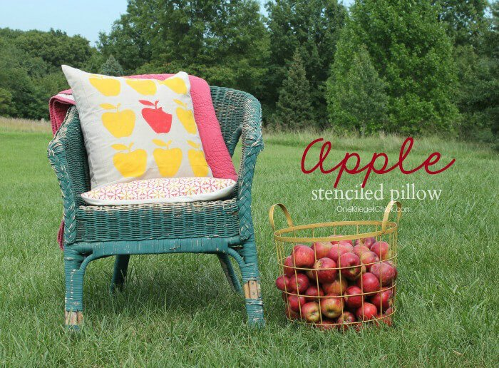 Stenciled-Apple-pillow-OneKriegerChick.com_