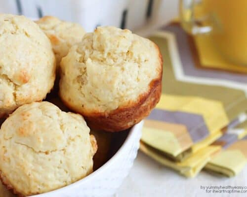 Quick & easy breakfast muffins, perfect for on-the-go busy mornings. Uses only one mixing bowl and spoon!