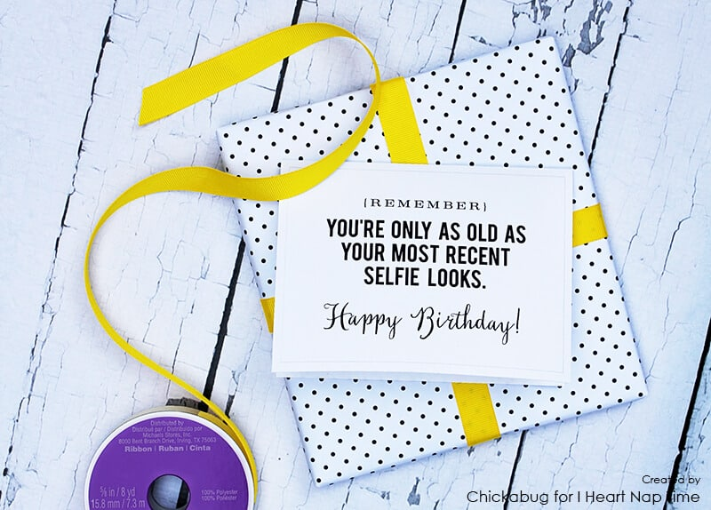 Printable birthday cards I Heart Nap Time – Free Happy Birthday Card Printable