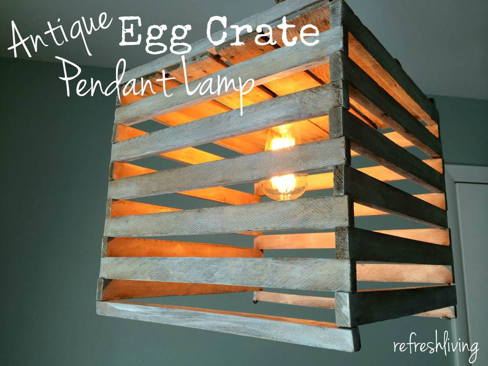 egg crate pendant