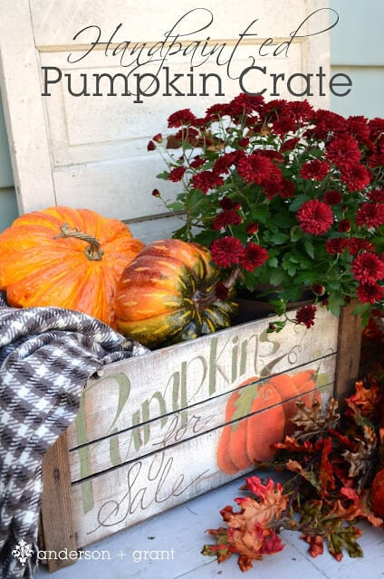 handpainted pumpkin crate vertical title