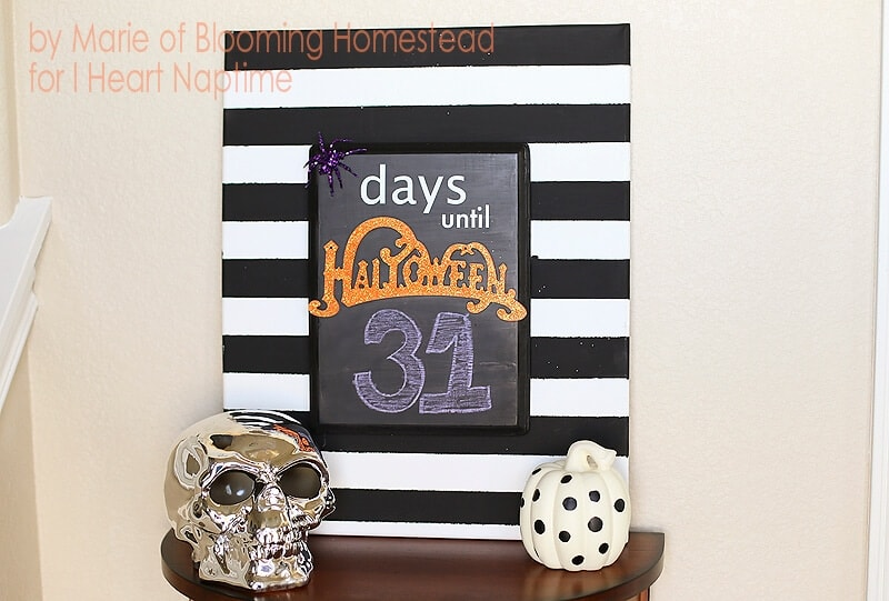 DIY Halloween Countdown by Blooming Homestead