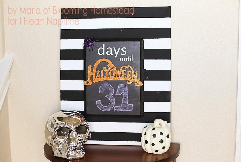 DIY Halloween Countdown by Blooming Homestead