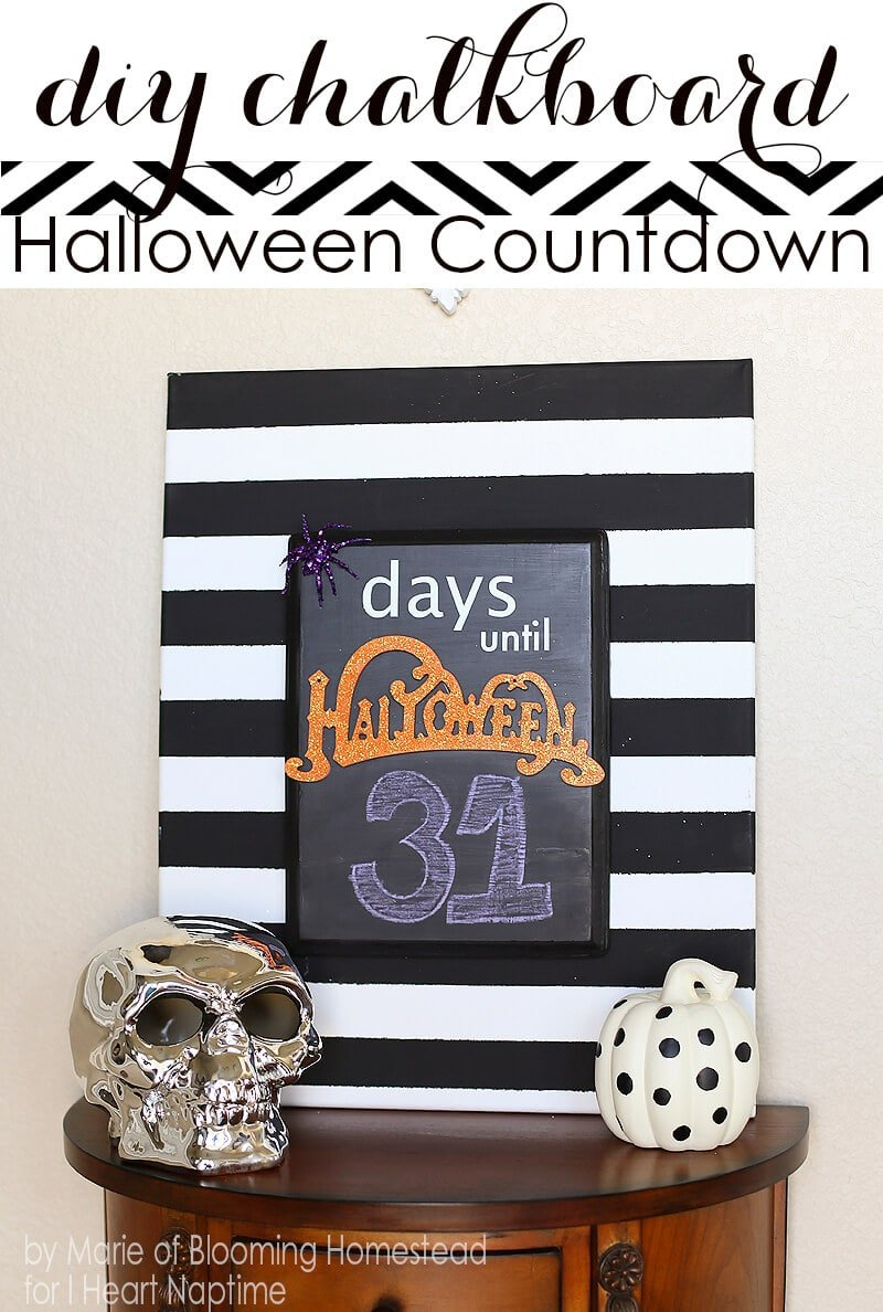 DIY Halloween Countdown by Blooming Homestead on iheartnaptime.com