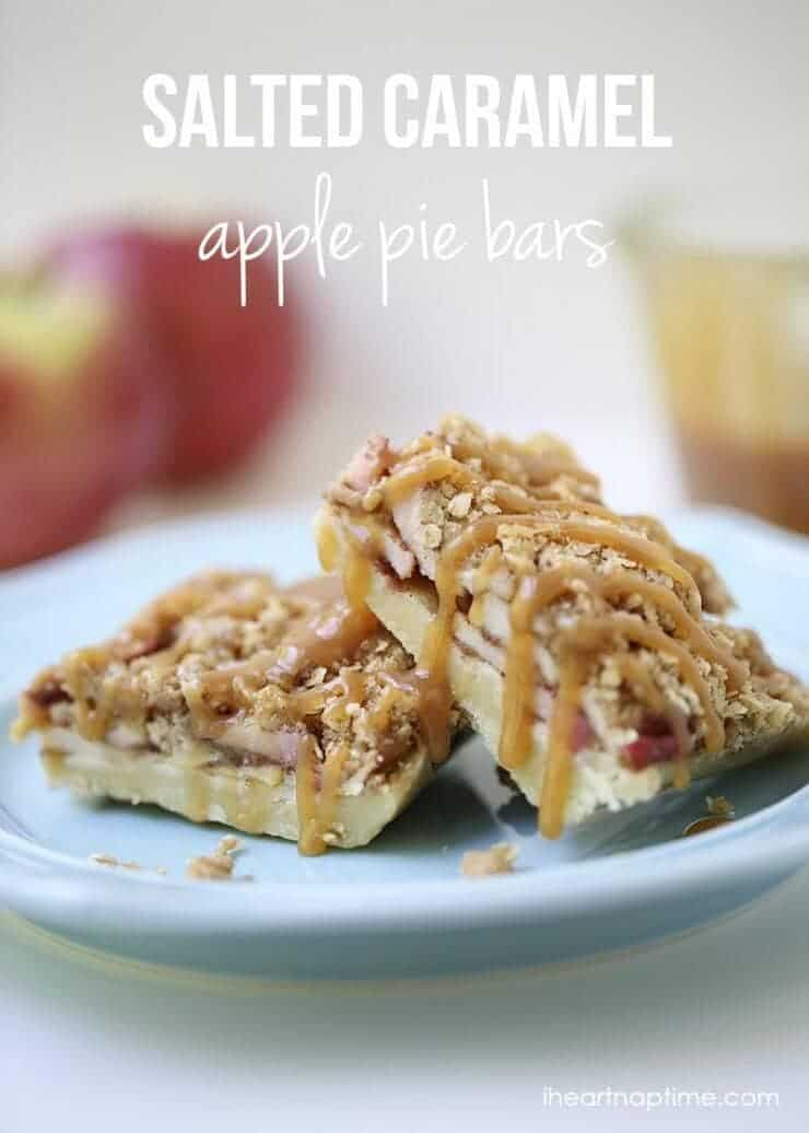 Caramel apple pie bars recipe