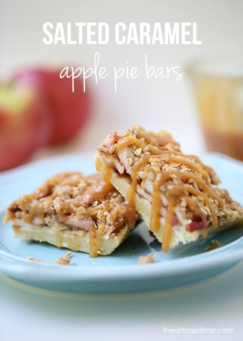 Caramel apple pie bars recipe