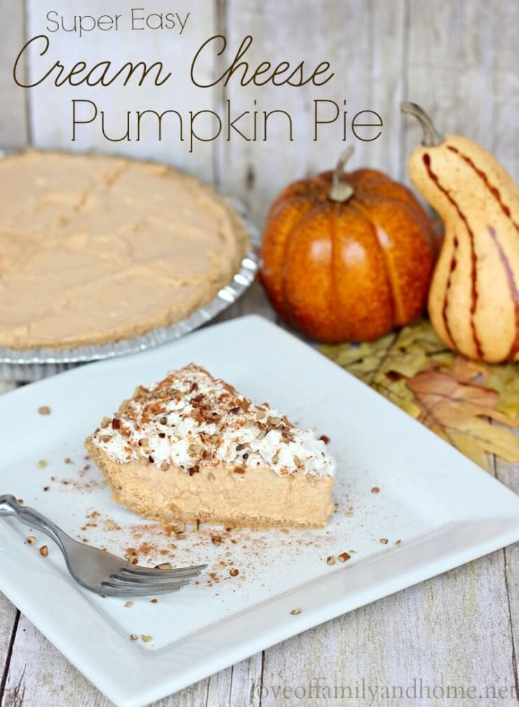 Cream Cheese Pumpkin Pie from Love of Family and Home
