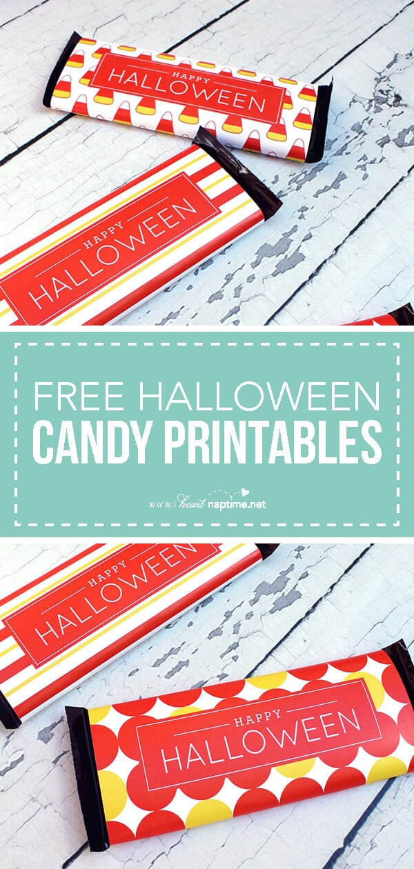free halloween candy bar wrapper printables