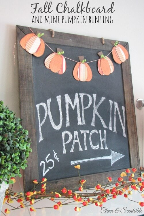 DIY fall chalkboard