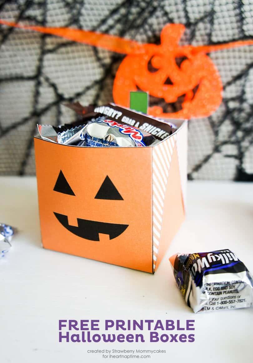 Caixas de Halloween para impressão gratuitos em www.iheartnaptime.com #freeprintables