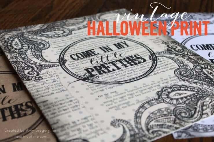 DIY Vintage Halloween Print on iheartnaptime.com