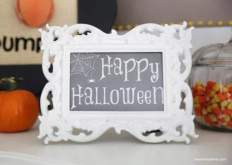 Happy Halloween free printable sign