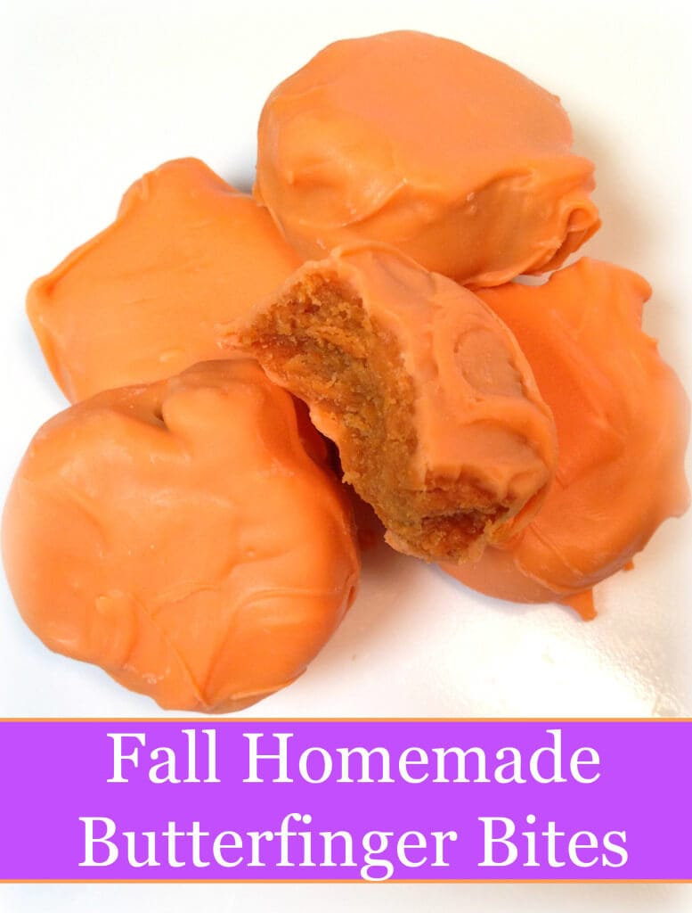 Homemade Butterfinger Pumpkins