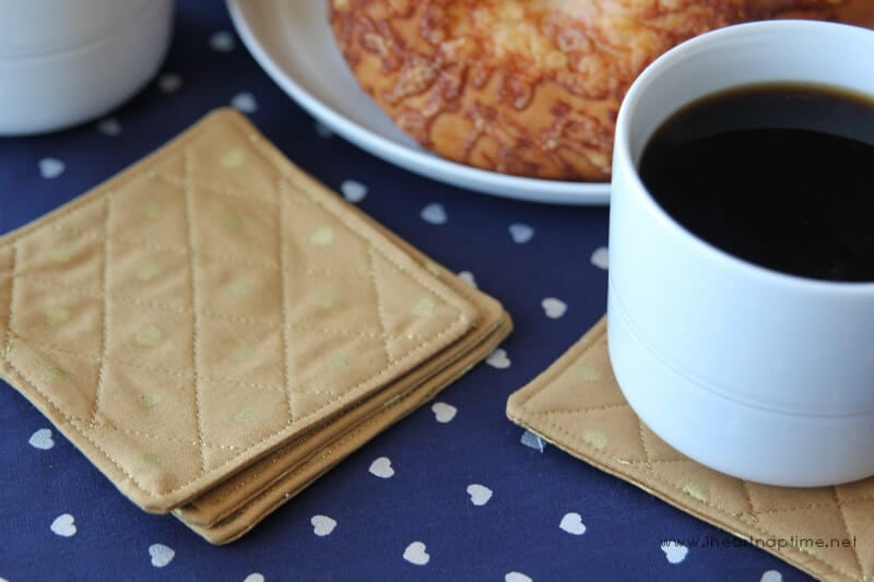 Quilted Coaster Tutorial on iheartnaptime.com