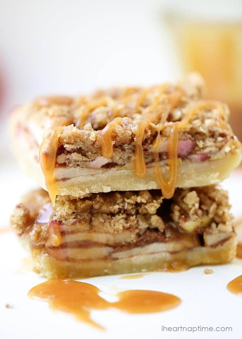 Salted caramel apple pie bars recipe