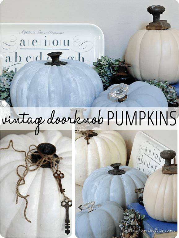 Vintage Doorknob Pumpkins