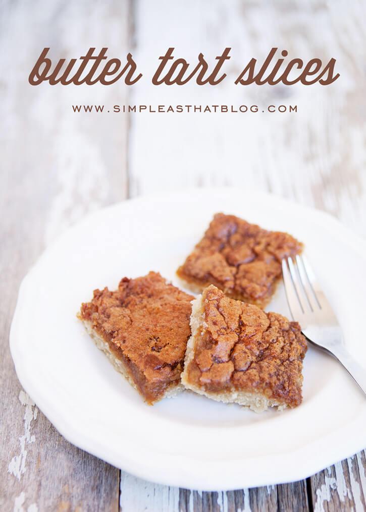 butter tart slices