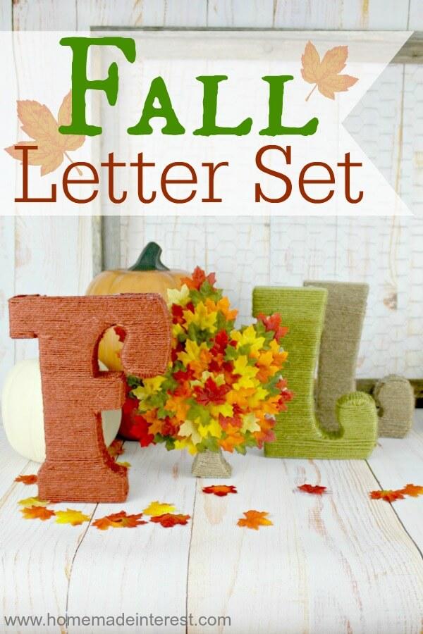 fall letter set