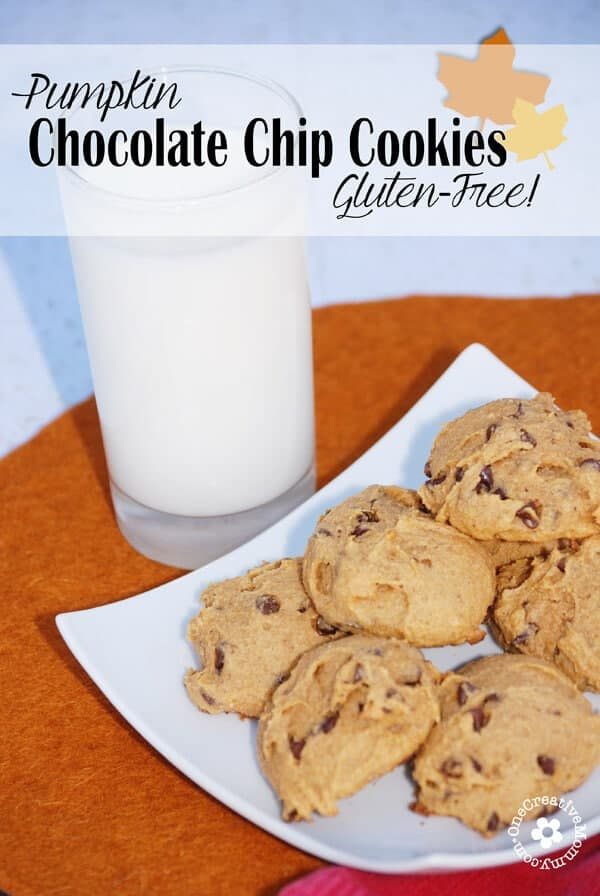 Gluten Free Pumpkin Chocolate Chip Cookies from One Creative Mommy